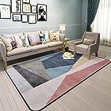 Hyun times Carpet Scandinavian geometric pattern living room simple modern bedroom full shop coffee table sofa home bedside mats ( Color : A , Size : 120180cm )