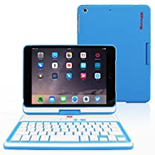 iPad Mini 1 / 2 / 3 360° Rotatable Keyboard Case, Snugg™ - Ultra Slim Keyboard Case with Bluetooth Connectivity & Lifetime Guarantee (Blue) For Apple iPad Mini 1 / 2 / 3 Retina