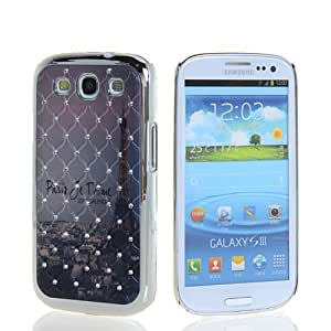 EVERGREENBUYING Luxury Chrome Star Rhinestone Bling Series Hard Back Case Cover For Samsung Galaxy S3 iii I9300