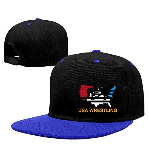 - USA Flag Wrestling Hard Panel Snapback Hat RoyalBlue