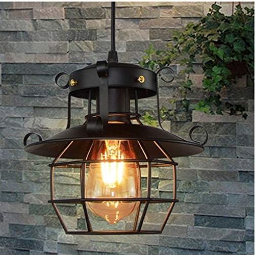OUKANING Lampe Suspension Vintage Noire Lustre Plafonnier E27 Eclairage de Plafond Cage Lustre Suspensions Lumi/ère en M/étal pour Salle /à Manger Salon Caf/é Industriel Loft