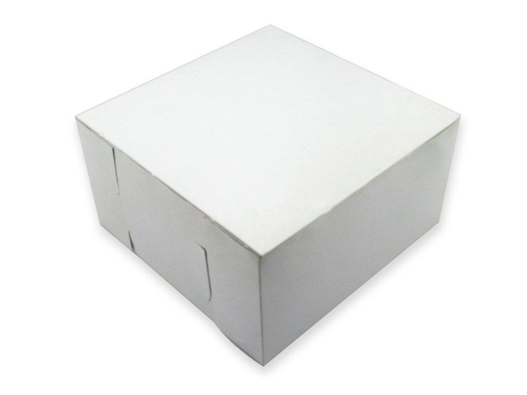 W PACKAGING WPLC16166WK 16x16x6 White/Kraft Plain Cake Box, Lock Corner, No Window (Pack of 50)
