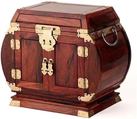 宝石箱、結婚祝いのためのミラーが付いている木のヴィンテージ宝箱の高容量のオルガナイザーの宝石箱