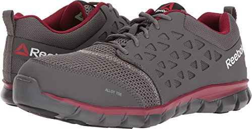 Reebok Work Men's Sublite Cushion Work EH Grey/Red 12 D - Hours Fashion Valley