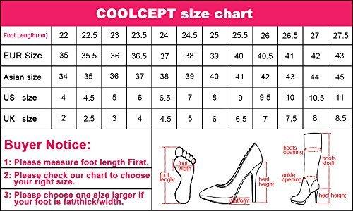 Slouch A Compense Mi Femmes Enfiler Mode Haut Bottes Coolcept Talon Boots gaO0Awaq