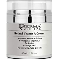 3.5% Retinol Vitamin A + Matrixyl 3000 + Argireline + Hyaluronic Acid CREAM ,Supreme Wrinkle Solution , Retinol is an antioxidant, and thus can interrupt the free-radical damage process that causes skin to look and act older - Dermaceutical