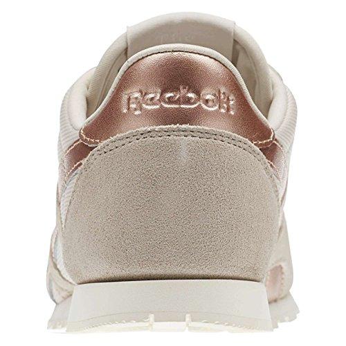 Reebok CL NYLON SLIM métallique–stucco/chalk/rose gol