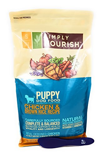 Simply Nourish Puppy Dry Dog Food - Natural, Chicken & Brown Rice, 6lbs and Especiales Cosas Mixing Spatula