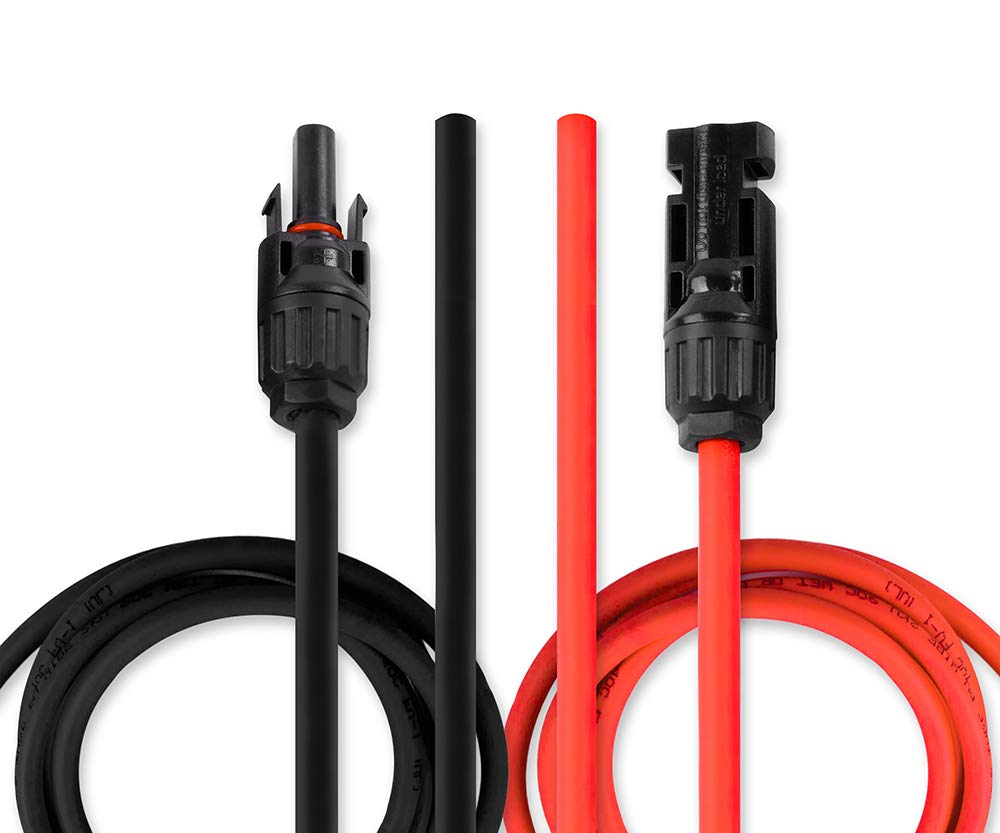 UL 4703 8 AWG Solar Wire Solar Panel Extension Cable 5 Feet Black with MC4 Connectors PV 5 Feet Red Copper Primary//Photovoltaic