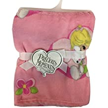 "Precious Moments ""Flowered Bunny"" Plush Blanket - Pink, one size 30""x40"""