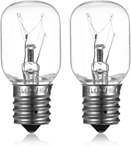 Light Bulb for Whirlpool Microwave Oven - Microwave Light Bulb Lamp for Whirlpool Maytag GE Amana Over The Range Hood Microwave, Kitchen Night Light Stove Light Surface Light Bulb, Replaces WB25X10030