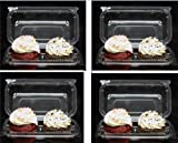 Cakesupplyshop Twk879p- 100pack Clear Plastic Standard Cupcake Muffin Double Cupcake Container Boxes -Holds 2cupcakes Each