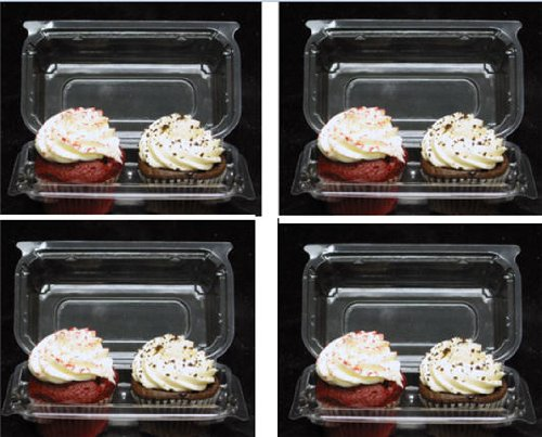 Holds 1 Standard Cupcake - Cakesupplyshop Twk879p- 100pack Clear Plastic Standard Cupcake Muffin Double Cupcake Container Boxes -Holds 2cupcakes Each