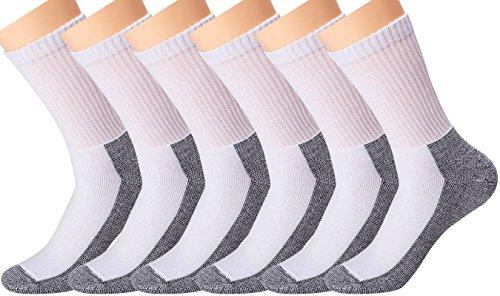 Cotton Cushion Athletic Socks Heavy Duty Reinforced Quarter Crew Soxs Black Grey - Show Cushion Socks