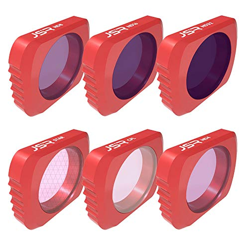 Rong ️6pcs Star + CPL + ND4 +ND8 + ND16 + ND32 Camera Lens Filters for DJI OSMO Pocket (red)