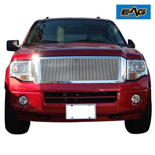EAG Chrome Billet Grille+Shell for 07-14 Ford Expedition ()