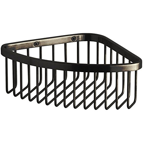 Kohler K-1896-2BZ K-1896 Medium Corner Shower Basket, Oil Rubbed Bronze (2BZ) ()