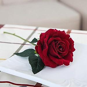 YJYdada 5 Pcs Artificial Silk Fake Flowers Rose Flower Wedding Bouquet Party Home Decor (D) 2