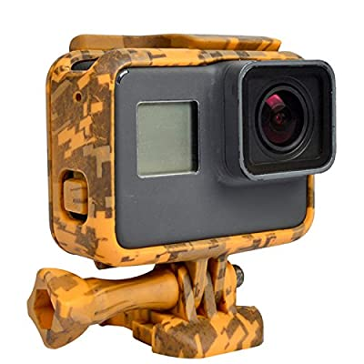 Zhhlaixing Haute performance Sports Camera Accessories Camouflage Frame Protection Box Black for Hero5