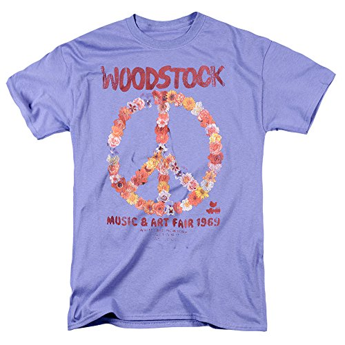 Popfunk Woodstock Peace Symbol Lavender T Shirt (XXXXX-Large)