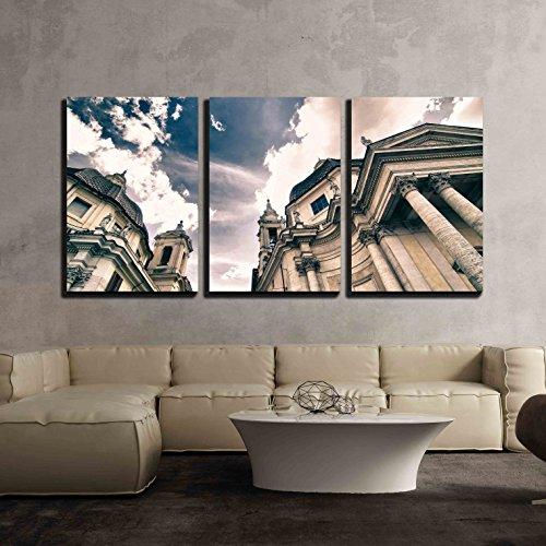 Piazza Del Popolo in Rome Italy x3 Panels