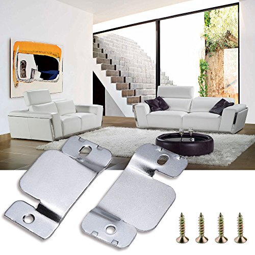 Huztl universal sectional sofa couch interlocking metal for Sectional sofa connectors 4 pack