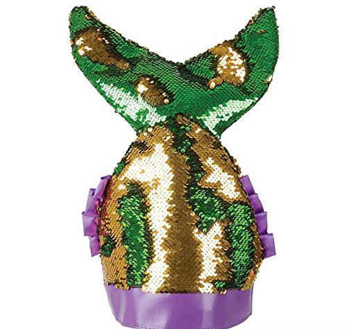 MARDI GRAS MERMAID TAIL HAT, Case of 24 by DollarItemDirect