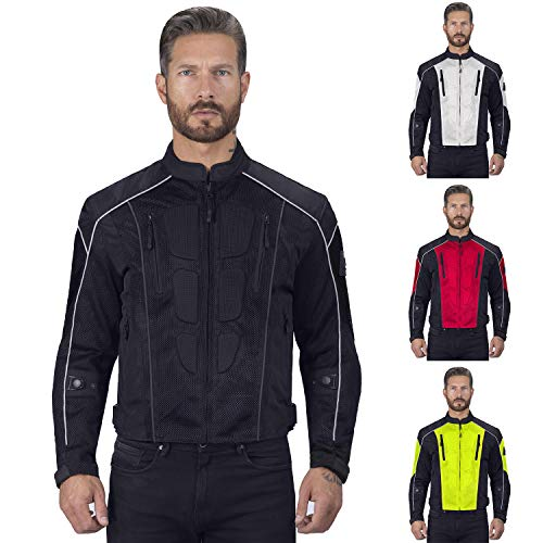 2 Mens Motorcycle Jacket - Viking Cycle Warlock Motorcycle Mesh Jacket For Men