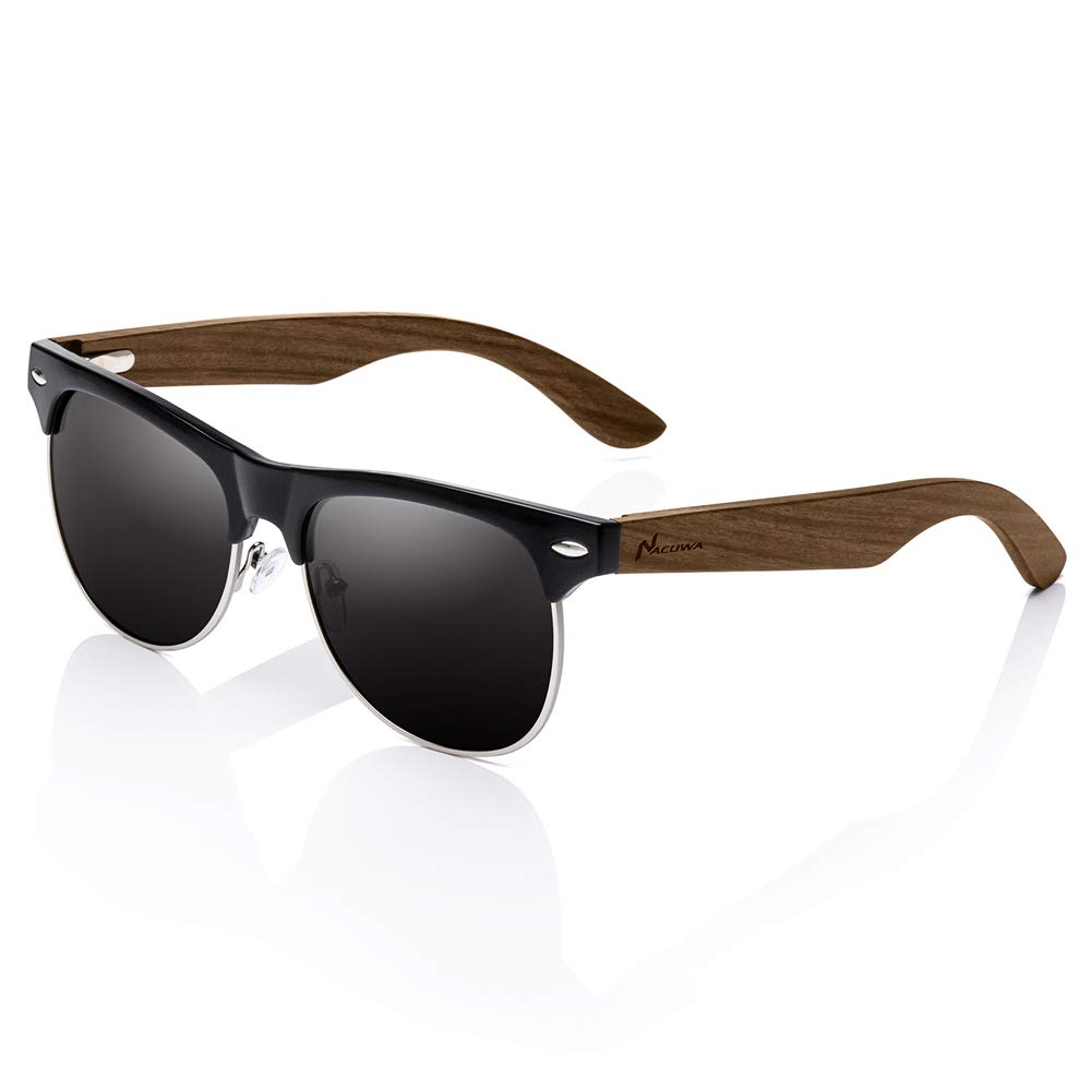 7c2930017ddf9 Amazon.com  Nacuwa Wooden Sunglasses for Women and Men