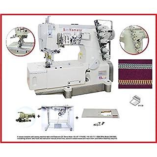 Yamata FY31016 Coverstitch Flatbed Interlock Knitted Underwear, Table, Servo Motor, DIY.