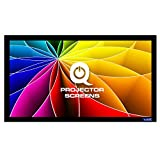 QualGear 110-Inch Fixed Frame Projector Screen, 16:9 High Contrast Gray at 0.9 Gain (QG-PS-FF6-169-110-G)