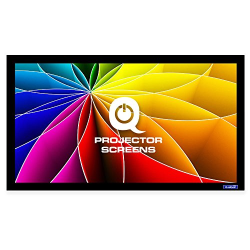 QualGear 110-Inch Fixed Frame Projector Screen, 16:9 High Contrast Gray at 0.9 Gain (High Contrast Grey Fixed Frame)