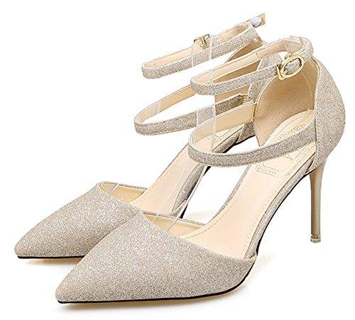 Scarpe D'oro Delle Aisun Sandali Cinghie Inarcato Donne Eleganti Due qqBp04
