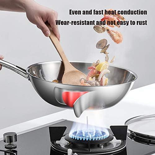 WZYJ Batterie De Cuisine en Acier Inoxydable Revêtue De Plusieurs Couches De 7 Pièces, Ensemble De Casseroles Et De Casseroles Allant Au Lave-Vaisselle, sans PTFE/PFOA/PFOS,C