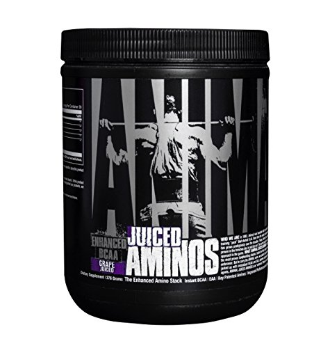 Universal Nutrition Animal Juiced Aminos Enhanced BCAA and EAA Instantized Amino Acid Supplement, Grape, 30 (Universal Animal Test)