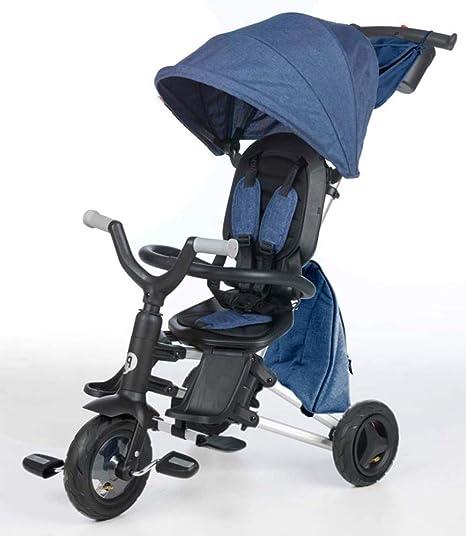 QPLAY - Triciclo Bebe Nova+ Azul - Evolutivo - Plegable - Arnés de ...