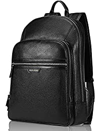 Multipurpose Leather Laptop Backpack Travel Hiking Daypack Casual School Bag Book Bags Rucksack for Men And Women
