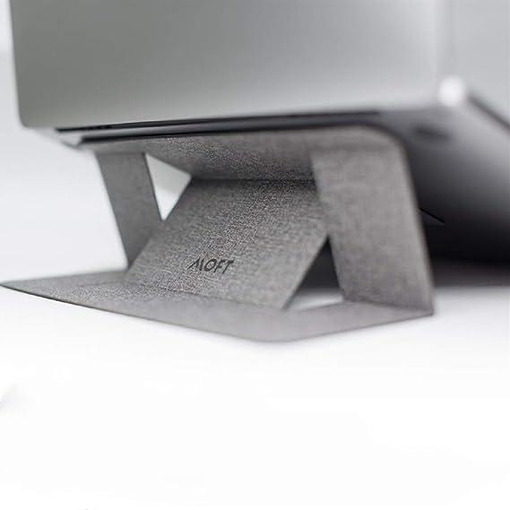 Argent Dispersion Thermique Support en Silicone MOFT 2D Support pour Ordinateur Portable Pliable avec Hauteur r/églable Portable pour MacBook//MacBook Air//MacBook Pro//Notebooks