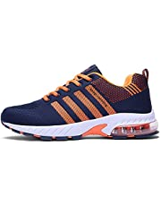 d9b5f8ee1 Ahico Running Shoes Men - Air Cushion Mens Women Tennis Shoe Lightweight  Fashion Walking Sneakers Breathable