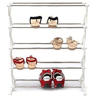 [Free Shipping] 5 Tier 12 Pair Stackable Shoe Rack Storage Organizer Space Saving Shelf Closet // 5 tier 12 par zapatos apilable rack organizador espacio ahorro armario estante