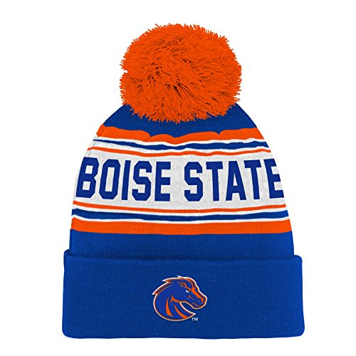 on sale 481ad e57bf NCAA by Outerstuff NCAA Boise State Broncos Kids   Youth Boys Jacquard Cuffed  Knit Hat w