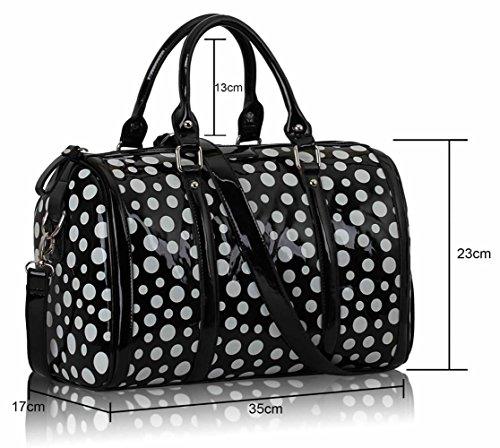 Chic Mode Mignonne Sac Femme Sacs Dot Leahward® Styliste Main Ls0069 À Qualité Noir pO6qx8