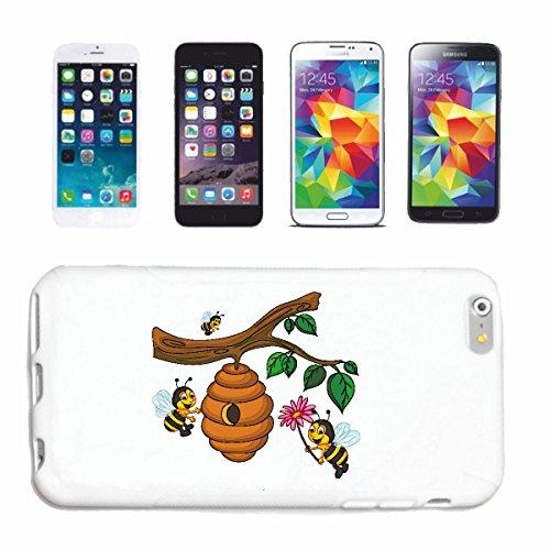 """cas de téléphone iPhone 7S """"BEES FUNNY AT WASP RUCHE MIEL PLIER GUÊPES HORNET"""" Hard Case Cover Téléphone Covers Smart Cover pour Apple iPhone en blanc"""