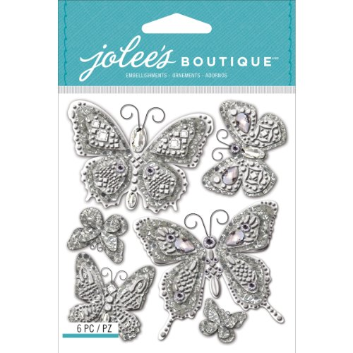 Jolee's Boutique Dimensional Stickers, Butterfly Bling