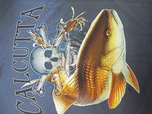 Calcutta T-Shirt Fade Logo Drum Short Sleeve XX-Large