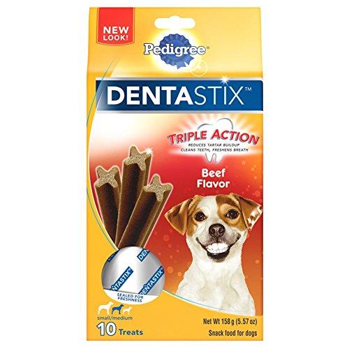 - Pedigree Dentastix Beef Flavor Small/Medium Treats For Dogs - 5.57 Oz. 10 Treats (Pack Of 7)