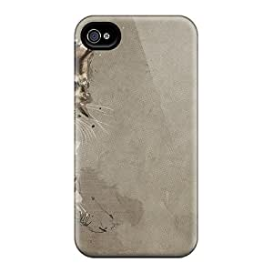 Top Quality Protection Paper Cat Case Cover For Iphone 4/4s