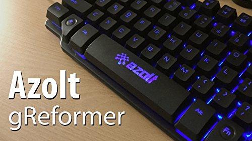 gReformer Half Mechanical USB Backlit Gaming Keyboard for FPS/MMO/LOL