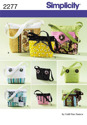 Simplicity Faith Van Zanten Pattern 2277 Misses Purses in Three Sizes with Detachable Covers