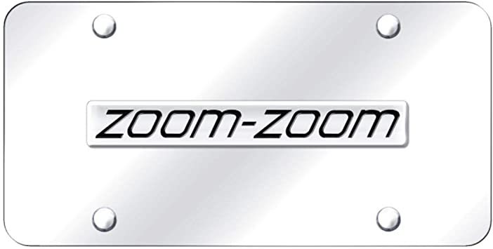 Mazda Zoom Zoom Stainless Steel License Frame Automotive Gold